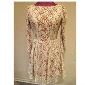 Ark & Co womens dress Size small lace 3/4 sleeves